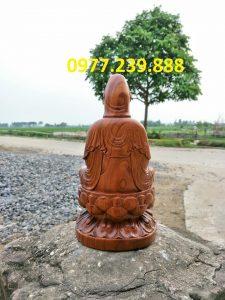 tượng bồ tát gỗ bách xanh 50cm