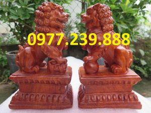 tượng cặp kỳ lân bằng hương 40cm