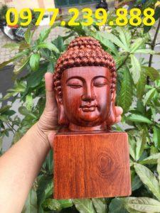 tượng diện phật bằng gỗ hương đỏ