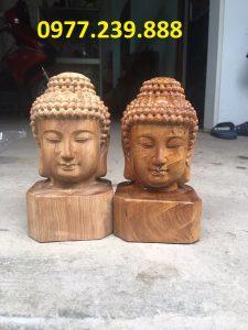 tượng diện phật bằng gỗ hương 20cm