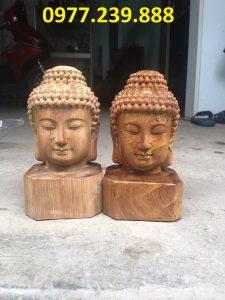 tượng diện phật bằng gỗ hương 30cm