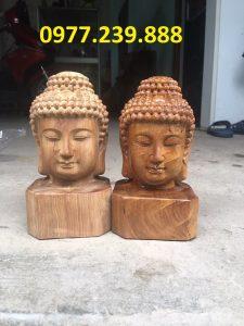 tượng diện phật bằng gỗ hương ta