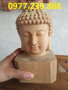 tượng diện phật bằng gỗ xá xị