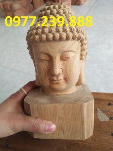 tượng diện phật bằng gỗ xá xị mua bán
