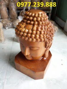 tượng diện phật gỗ bách xanh 20cm