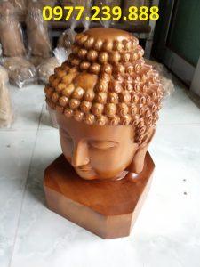 tượng diện phật gỗ bách xanh 25cm