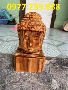tượng diện phật gỗ huyết long 30cm
