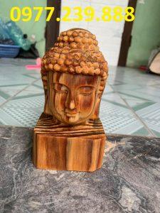 tượng diện phật gỗ huyết long 40cm