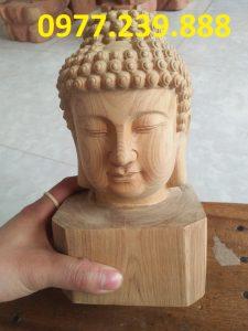 tượng diện phật gỗ xá xị