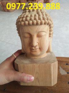 tượng diện phật gỗ xá xị 30cm