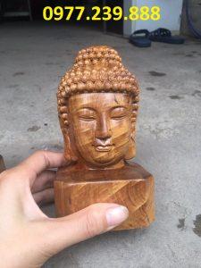 tượng diện phật phong thủy bằng gỗ bách xanh