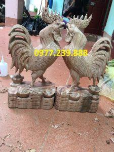tượng gà bằng gỗ hương ta