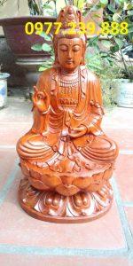 tượng gỗ phật bà quan âm bằng gỗ hương 15cm