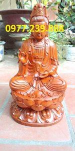 tượng gỗ phật bà quan âm bằng gỗ hương 20cm