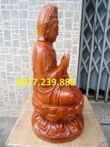 tượng gỗ phật bà quan âm bằng gỗ hương