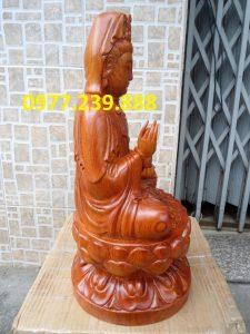 tượng gỗ phật bà quan âm gỗ hương