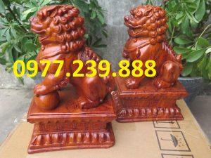 tượng linh vật kỳ lân bằng gỗ hương giá rẻ