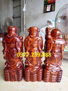 tượng phúc lộc thọ bằng gỗ trắc dây 30cm