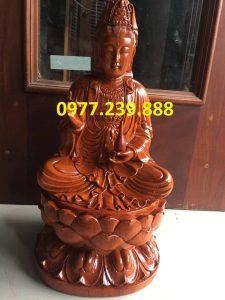 tượng phật bà bằng gỗ hương 15cm