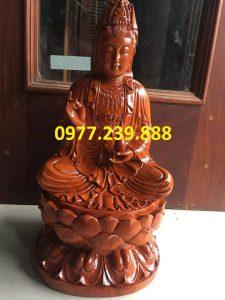 tượng phật bà bằng gỗ hương 50cm