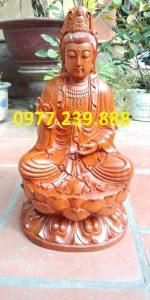 tượng phật bà gỗ hương 15cm