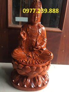 tượng phật bà gỗ hương 80cm