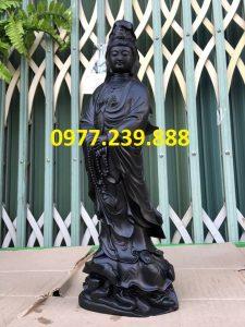 tượng phật bà quan âm bằng gỗ mun