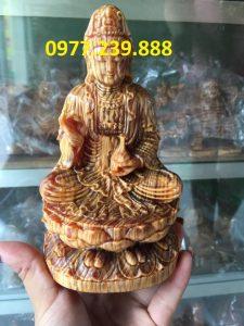tượng phật bằng gỗ huyết long 30cm