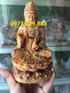 tượng phật bằng gỗ huyết long 80cm
