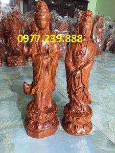 tượng phật quan âm đứng hương 70cm