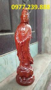 tượng quan âm đứng hương