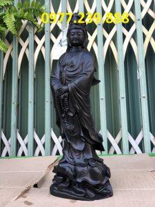 tượng quan âm bằng gỗ mun