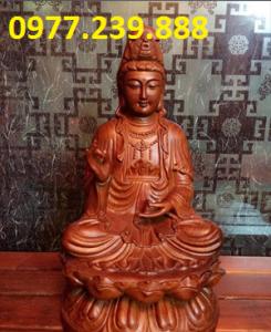 tượng quan âm gỗ hương 15cm