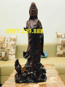 tượng quan âm gỗ mun 70cm