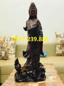 tượng quan âm gỗ mun giá gốc