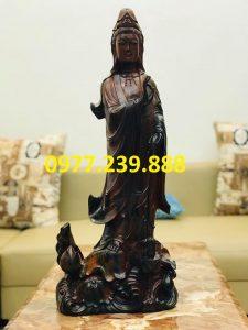 tượng quan âm gỗ mun giá rẻ