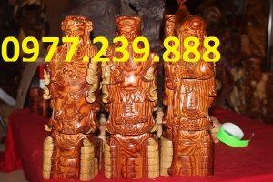 tượng tam đa bằng gỗ trắc dây
