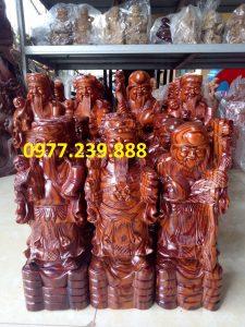 tượng tam đa gỗ trắc dây