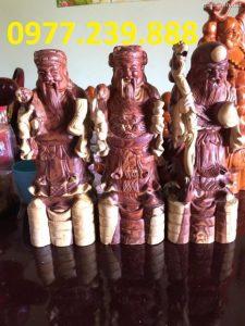 tượng tam đa phúc lộc thọ bằng gỗ trắc