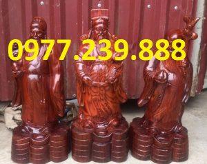 tượng tam đa phúc lộc thọ bằng gỗ trắc giá rẻ