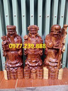 tượng tam đa phúc lộc thọ gỗ trắc