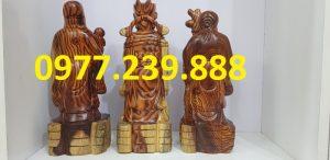 tam đa phúc lộc thọ gỗ trắc dây 40cm