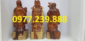 tam đa phúc lộc thọ gỗ trắc dây 60cm