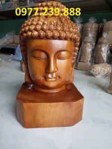 tuong dau phat bang go bach xanh 40cm