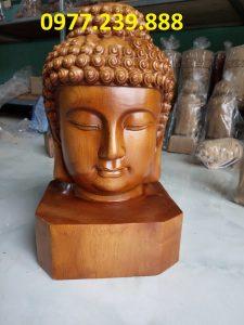 tuong dau phat bang go bach xanh cao 40cm