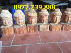 tuong dien phat bang go huyet long 40cm gia re