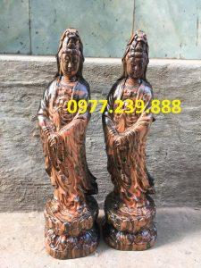 tuong phat ba dung bang go trac 50cm