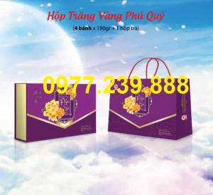 bán bảng giá bánh trung thu cao cấp hải hà trăng vàng phú quý ở quầy