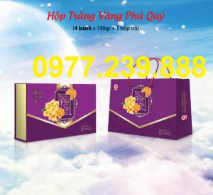bảng giá bánh trung thu cao cấp hải hà trăng vàng phú quý ở quầy